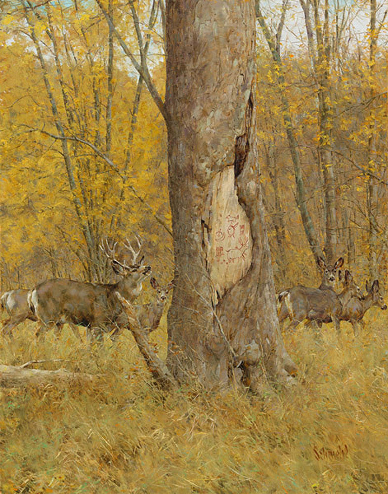 Little Dogs Deer – Art Prints by Bradley Schmehl