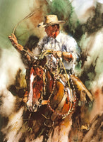 Ranch Roping Art Prints by Chris Owen