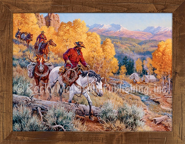 A Welcome Sight Framed Giclee Canvas Print by Clark Kelley Price