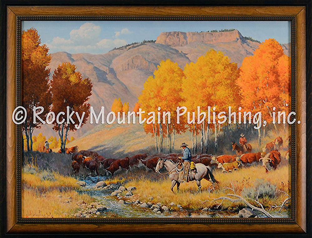 Cowboy Gold – Framed Giclee Canvas by Clark Kelley Price