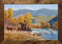Crossing the Snake River – Framed Art Prints by Clark Kelley Price