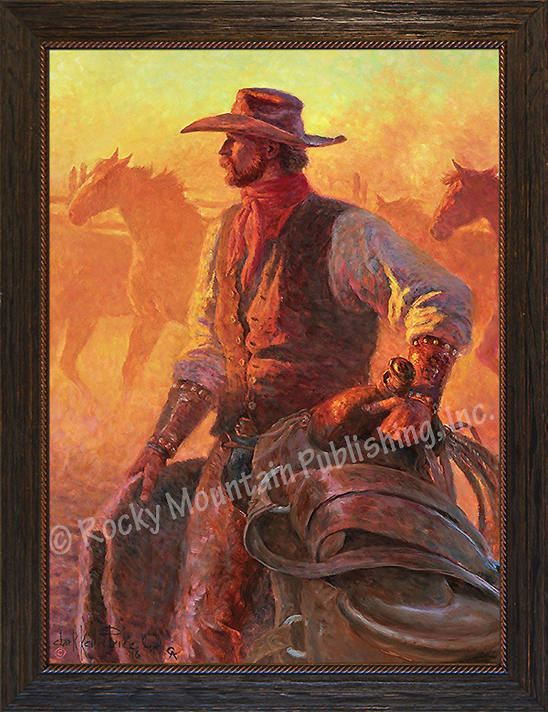 Dust of the Pahsimeroi – Framed Giclee Canvas by Clark Kelley Price