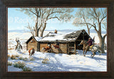 Eviction Day – Framed Giclee Canvas by Clark Kelley Price