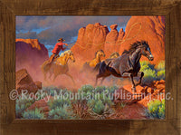 Final Stretch For Freedom – Framed Art Prints by Clark Kelley Price