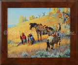 Glad I Hired This Guide – Framed Giclee Canvas by Clark Kelley Price