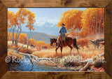 One the Fall Round Up – Framed Art Prints by Clark Kelley Price
