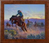 Powder River – Framed Giclee Canvas by Clark Kelley Price