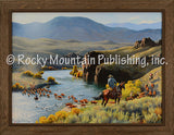 Rockin Right Along – Framed Giclee Canvas by Clark Kelley Price