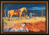 Thats Stretchin It – Framed Giclee Canvas by Clark Kelley Price