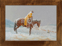 Trail Count – Framed Giclee Canvas by Clark Kelley Price