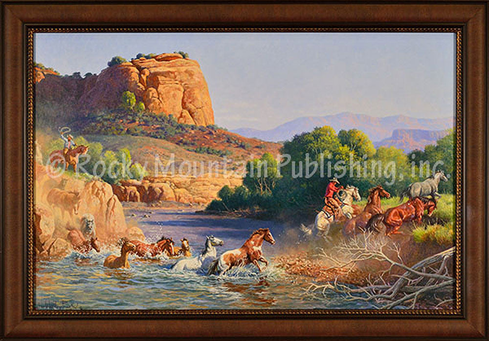 Virgin River Crossing – Framed Giclee Canvas by Clark Kelley Price