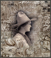 Cowgirl - Framed Float Canvas art print by Shari Jenkins