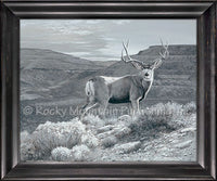 Badlands Ghost Framed Giclee Canvas by Dallen Lambson