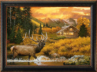 Golden Hour Custom Framed Giclee Canvas Art Print by Dallen Lambson