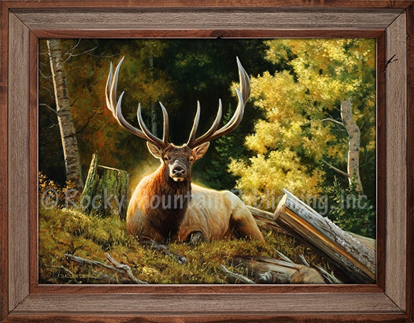 Dallen Lambson - King Size Bed Framed Giclee Canvas Print