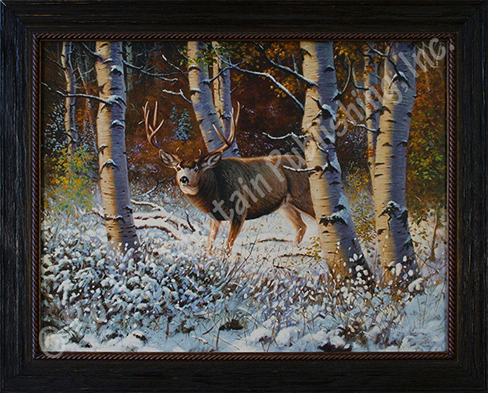 Late Season Standoff - Giclee Canvas by Dallen Lambson