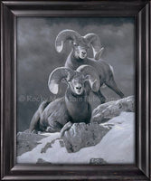Dallen Lambson - Mountain Mascots Framed canvas prints