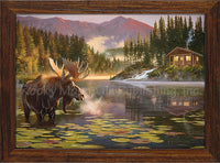 Dallen Lambson - Place of Rest Framed Giclee canvas print