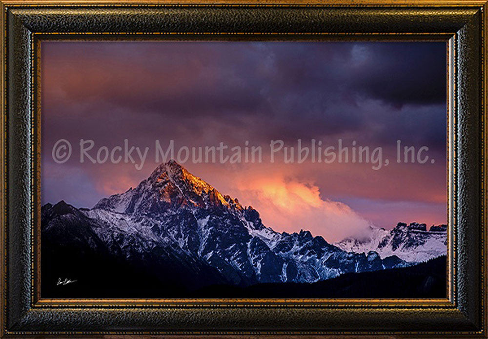 A Violent Storm Framed Giclee Canvas by Dan Ballard