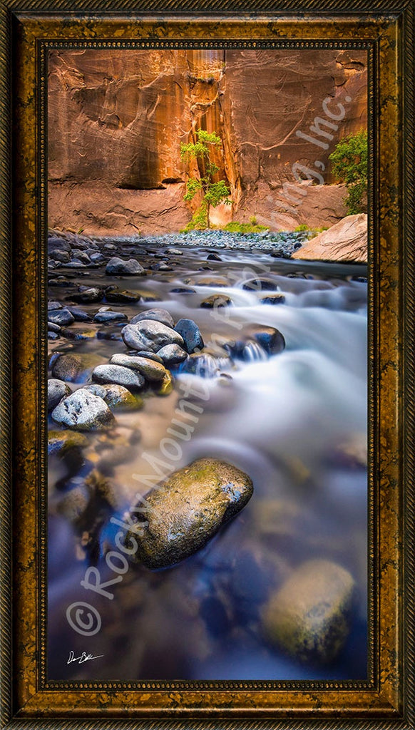 Blue Haven Framed Giclee Canvas by Dan Ballard