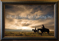 Breaking Dawn Framed Giclee Canvas by Dan Ballard