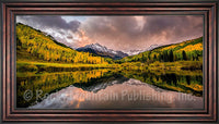 Colorado Fall Framed Giclee Canvas by Dan Ballard