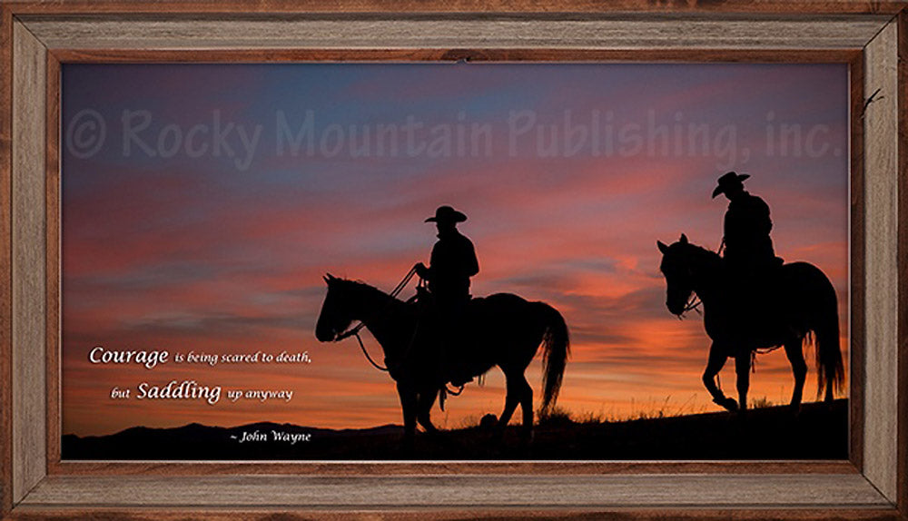 Evening Silhouette Custom Framed Art Prints by Dan Ballard