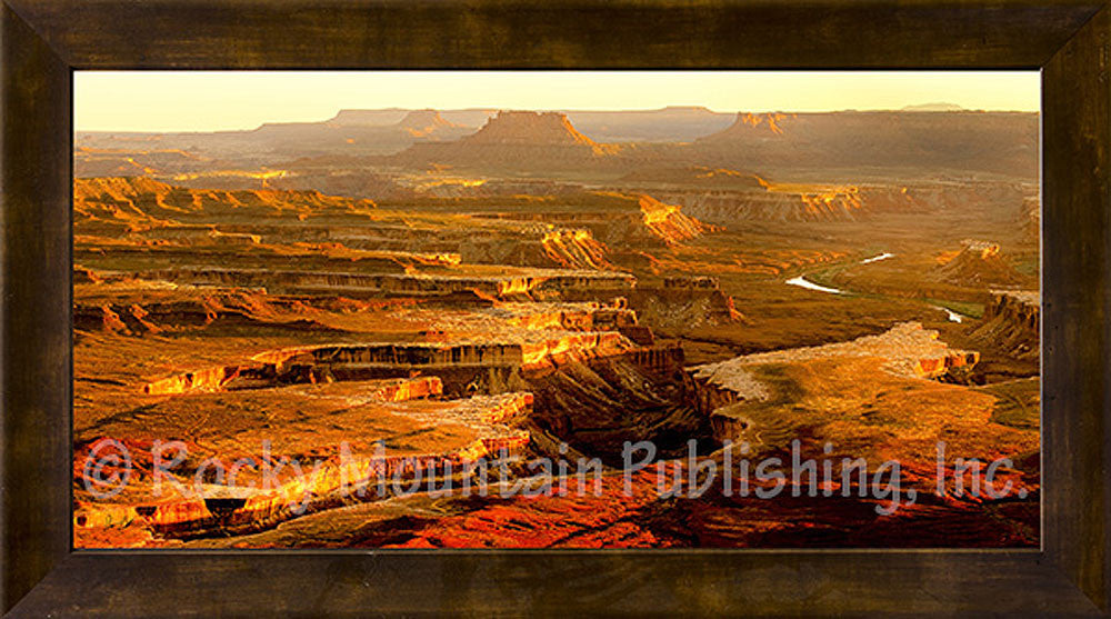 Green River Framed Giclee Canvas by Dan Ballard