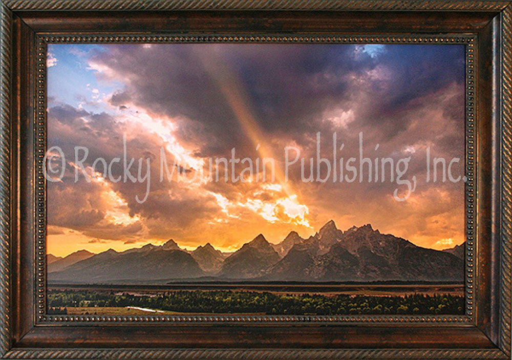 Light From Above Framed Giclee Canvas by Dan Ballard