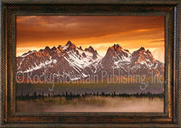 Misty Peak Framed Giclee Canvas by Dan Ballard