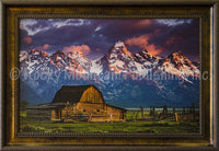 Moulton Barn Framed Giclee Canvas by Dan Ballard