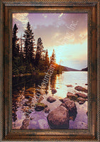 Peaceful Waters Framed Giclee Canvas by Dan Ballard