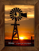 Plains Windmill Custom Framed Art Prints by Dan Ballard