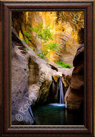 Stone Falls Framed Giclee Canvas by Dan Ballard