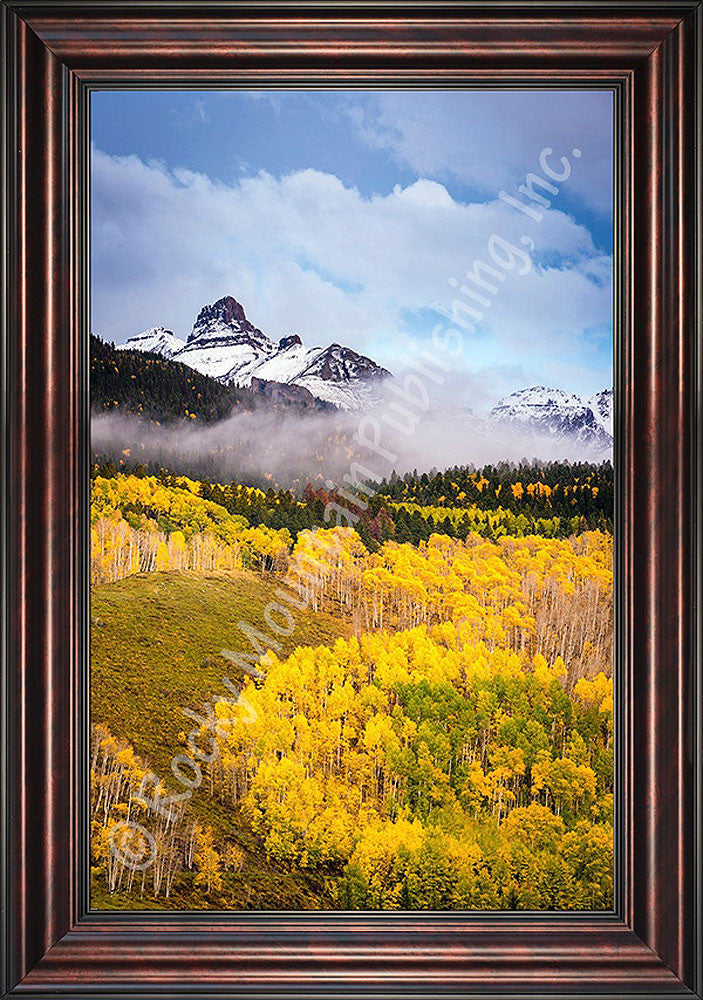 Through the Mist Framed Giclee Canvas by Dan Ballard