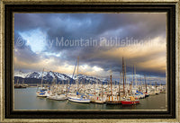 Twilight Harbor Framed Giclee Canvas by Dan Ballard