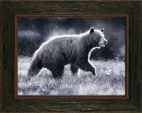 Dark Chocolate - Bear Custom Framed giclee canvas art prints by Dallen Lambson
