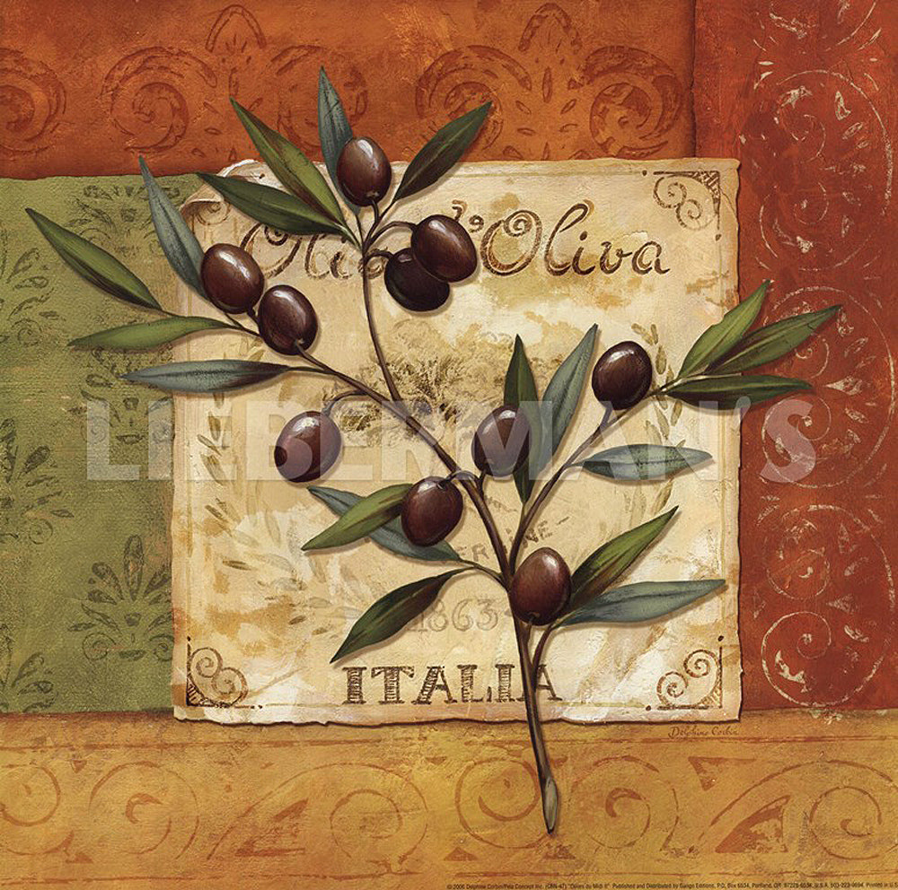Olives du Midi II Art Prints by Delphine Corbin