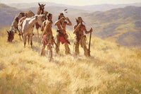 Dust of Many Pony Soldiers Art Prints by Howard Terpning