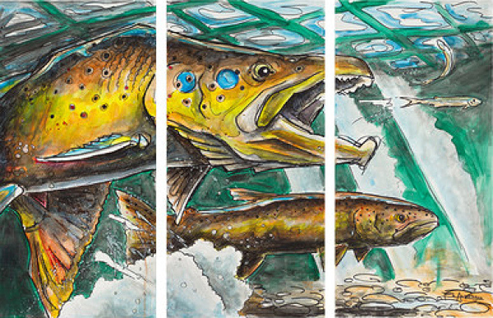 The Chase - Triptych Art Prints by Ed Anderson