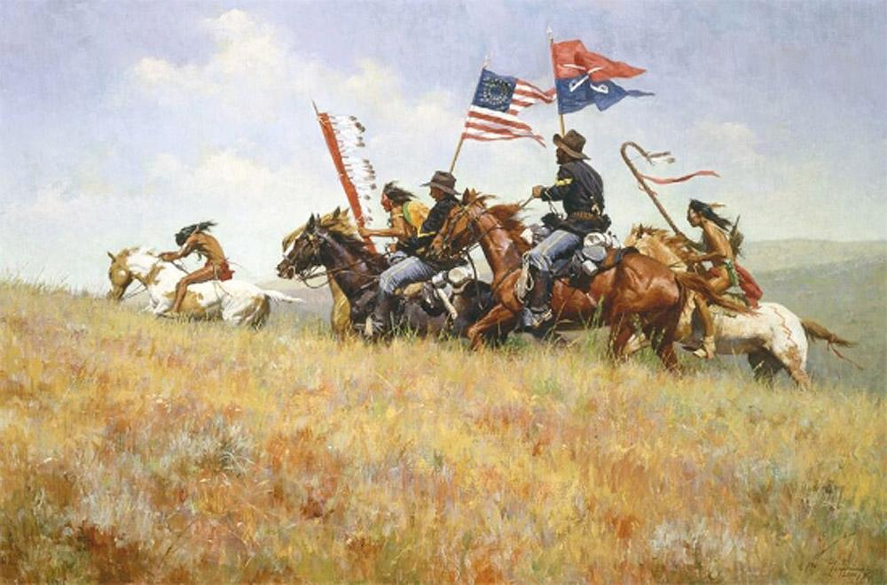 Flags on the Frontier Art Prints by Howard Terpning