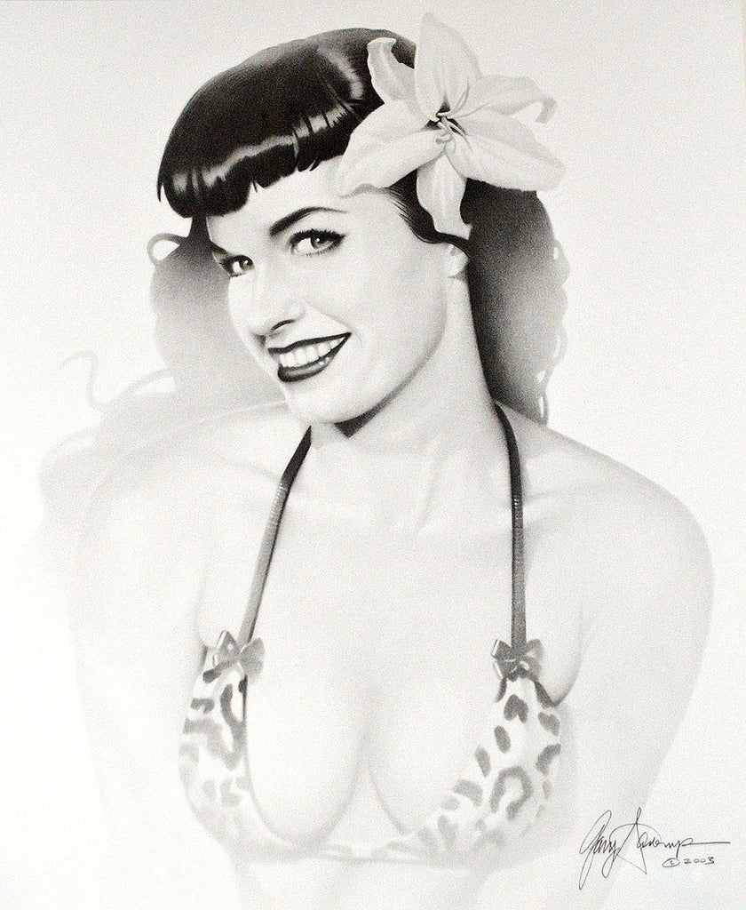 Bettie Page – Art Prints by Gary Saderup