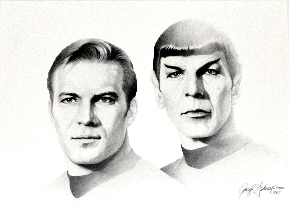Star Trek – Kirk and Spock – Art Prints by Gary Saderup
