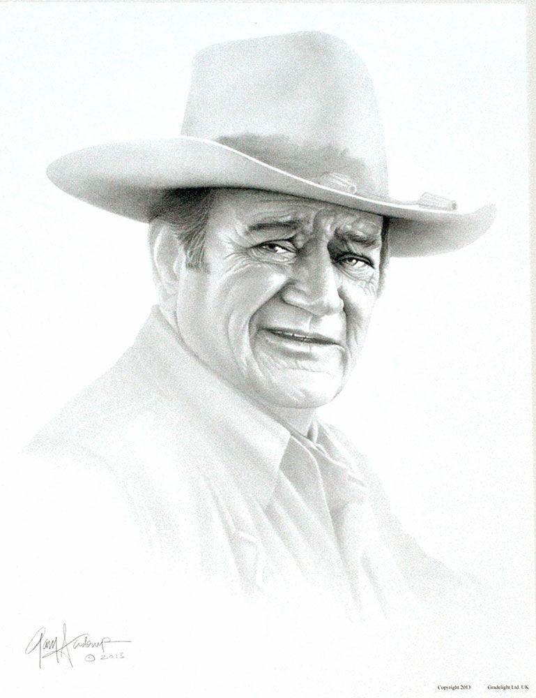 John Wayne – Art Prints by Gary Saderup