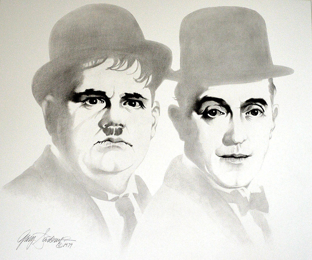 Laurel and Hardy – Art Prints by Gary Saderup