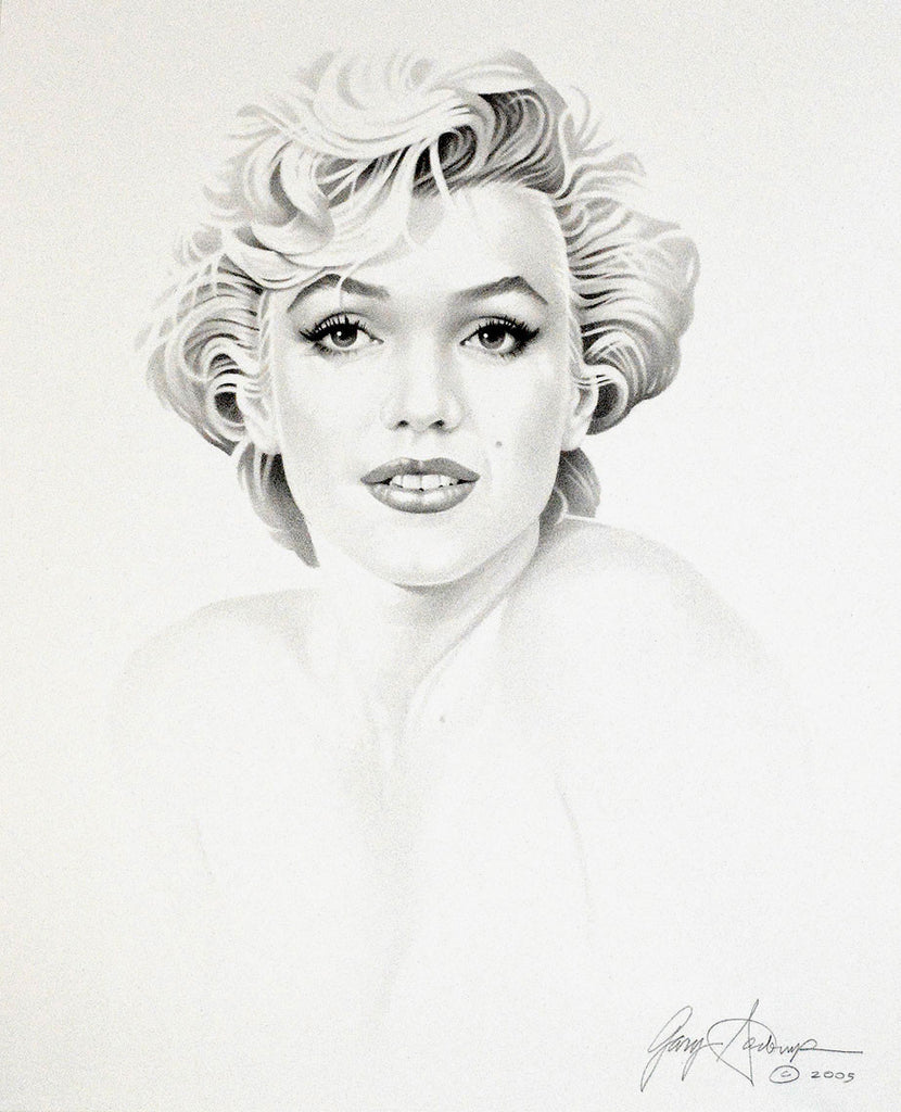 Marilyn Monroe – Face Only – Art Prints by Gary Saderup