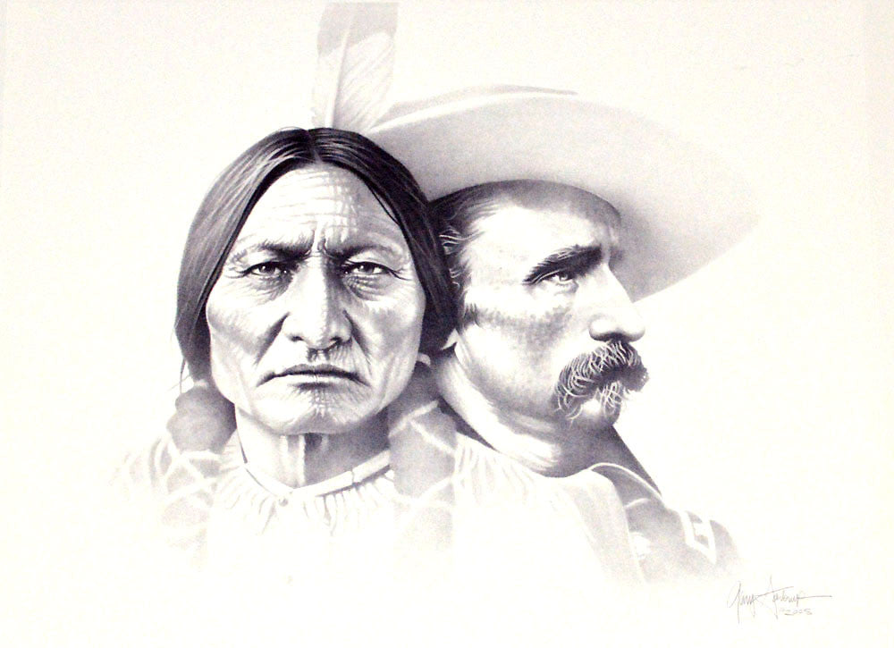 Sitting Bull and Custer – Art Prints by Gary Saderup
