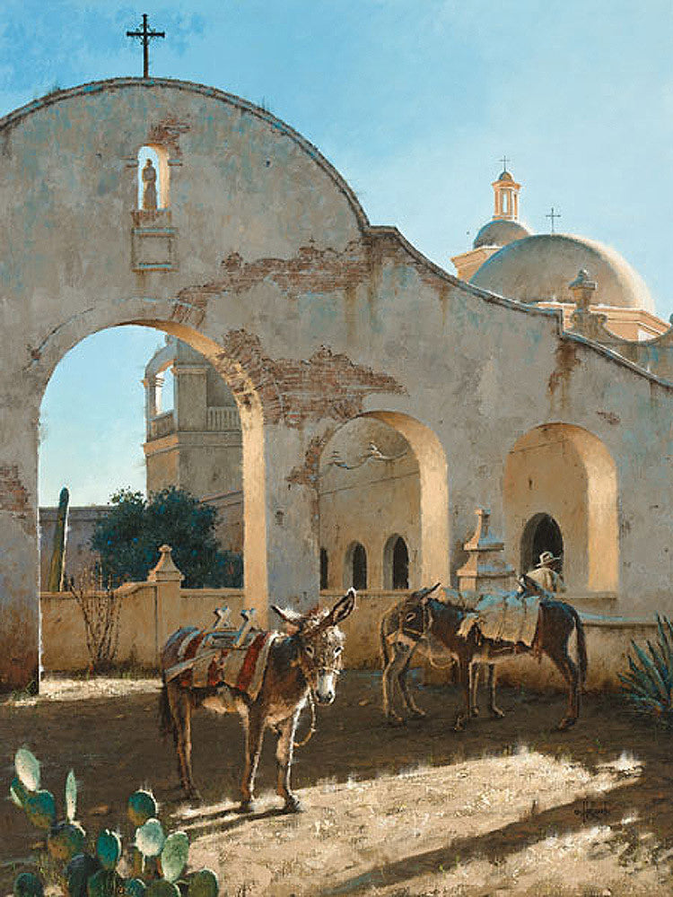 Shadows of San Xavier by George Hallmark