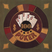 Poker $100 Art Prints by Gregory Gorham
