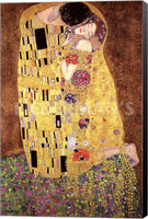 Gustav Klimt Kiss 1908 Museum Wrapped Canvas Art Print